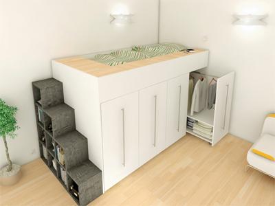creation lit surelev sur mesure page 2. Black Bedroom Furniture Sets. Home Design Ideas