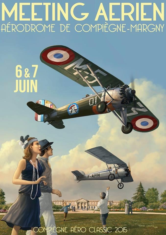 Compiègne Aéro Classic 2015,l'aérodrome de Compiègne-Margny, les 6 et 7 juin 2015,Le Cercle des Machines Volantes, meeting aerien 2015, French Airshow 2015