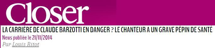 Blog de barzotti83 : Rikounet 83, Claude Barzotti souffre le martyre interview France Dimanche