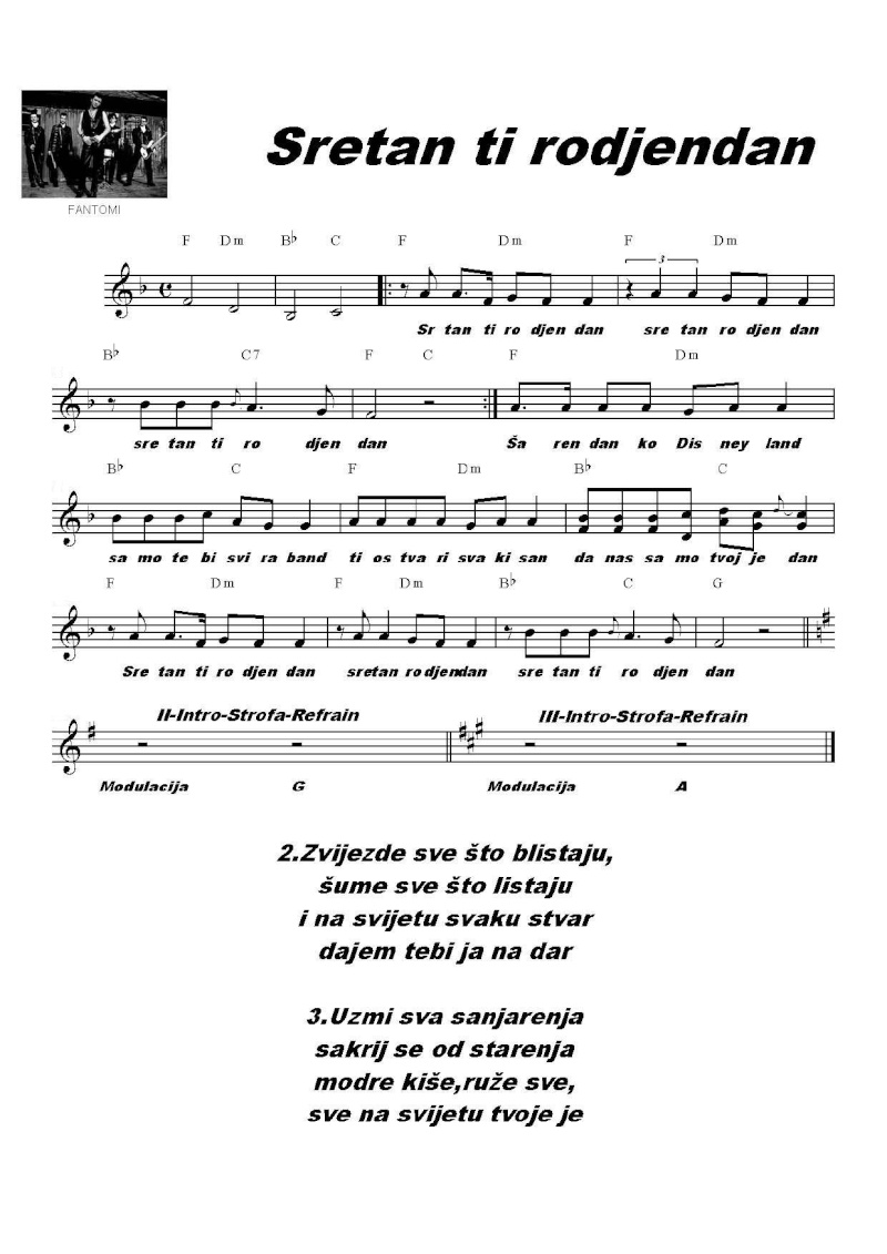 sretan rođendan ti pjesma Note / Tablature   Stranica 33   Forum.hr sretan rođendan ti pjesma