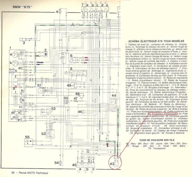 Schema Elettrico Bmw K75 : Fonctionnement voyant de réserve sur k s
