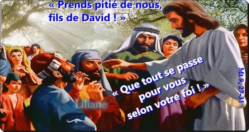 """Résultat de recherche d'images pour """"Croyant en Jésus, deux aveugles sont guéris"""""""