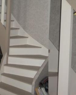 Escalier repeint en gris meilleures images d 39 inspiration for Montee escalier bois