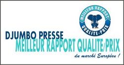 Les Presses Djumbo sont les moins chères du marché, à qualité égale!!