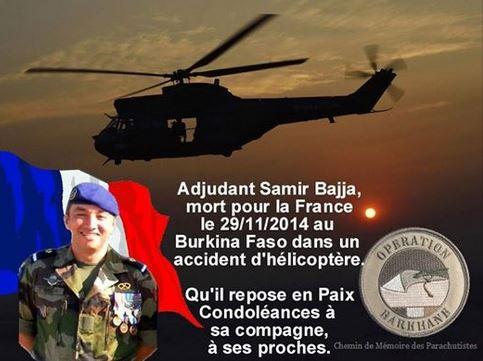 L'adjudant Samir Bajja est le deuxième soldat français à mourir au Sahel depuis le lancement de l'opération Barkhane