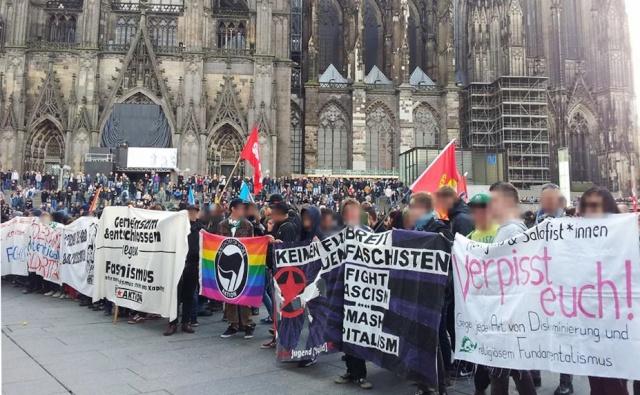 Le 24 octobre, un millier d'antifascistes a courageusement contre-manifesté, hélas insuffisant !