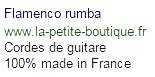 cordes de guitare flamenco rumba