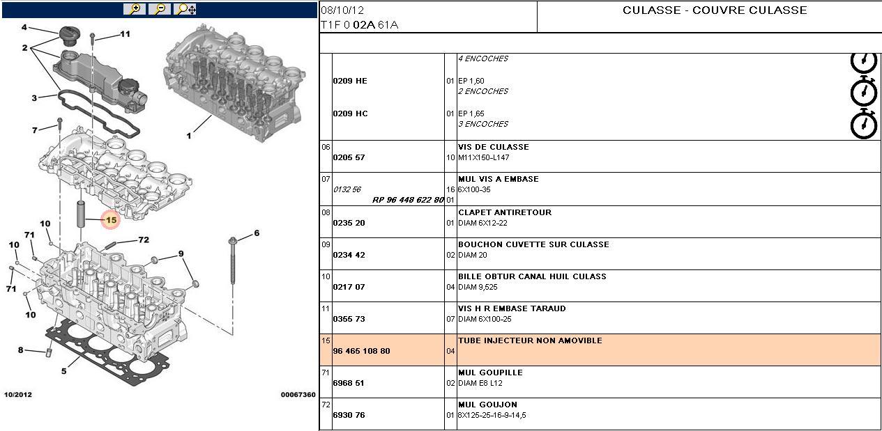 Tuto changement joints d 39 injecteur hdi 1l6 110 for Prix garage changement joint de culasse