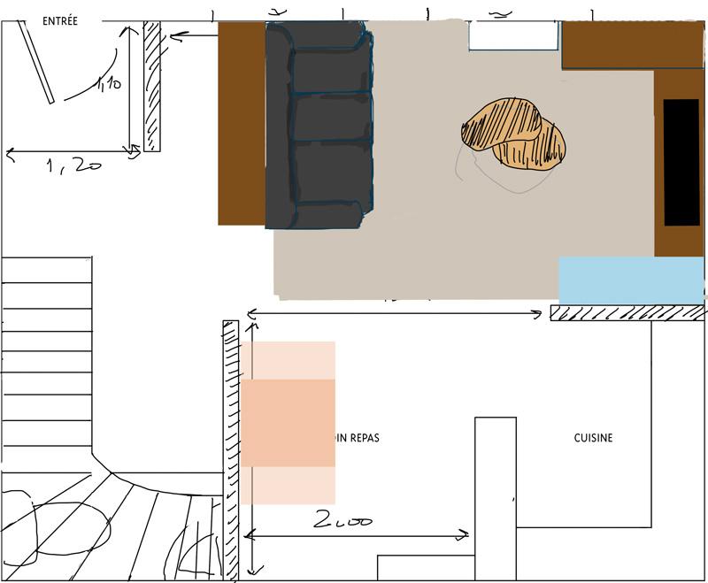 Petit salon en longueur sur cuisine ouverte for Deco petit salon en longueur