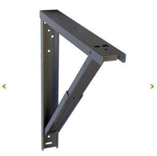 R alisation table ch ne brut acier valchromat for Equerre pliante pour table